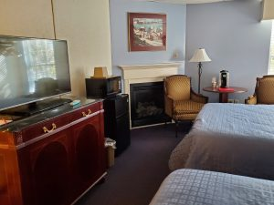 Fireside Inn Bangor Maine Guest Room with Two Beds